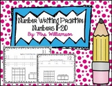 Number Writing Practice 11-20