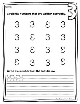 number writing practice by lyndsey 39 s learners teachers pay teachers. Black Bedroom Furniture Sets. Home Design Ideas