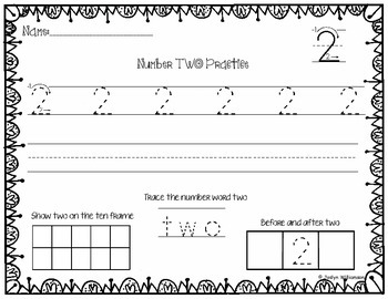 Number Writing Practice Bundle- Numbers 0-20