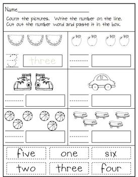 Number Writing Practice in Kindergarten  *D'Nealian*
