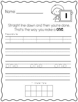 number writing practice kindergarten eureka math by the cuteified classroom. Black Bedroom Furniture Sets. Home Design Ideas