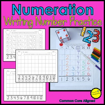 Number Writing Practice Number Sense Math Game Apple Theme