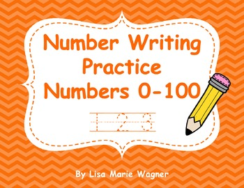 Number Writing Practice - Numbers 0-100