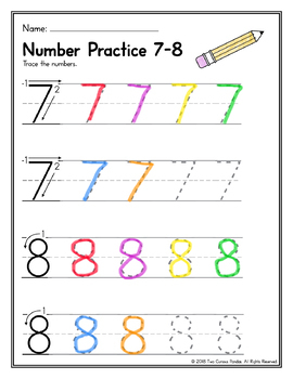 Number Writing Practice (Numbers 1-10)