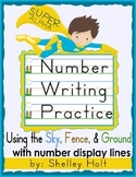 Number Writing Practice - Sky, Fence, Ground