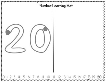 Number Writing Practice - Starter Sheets (11 to 20)