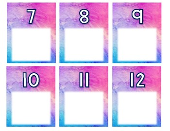 Number Writing Practice Task Cards