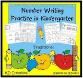 Number Writing Practice in Kindergarten  *Traditional*