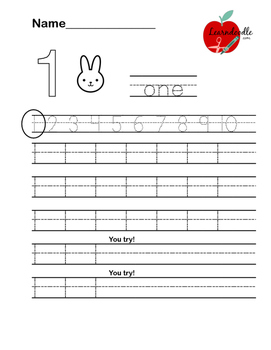 Number Writing Practice Worksheets