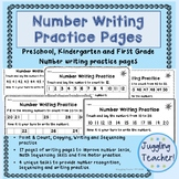 Number Writing Practice - number formation and fine motor