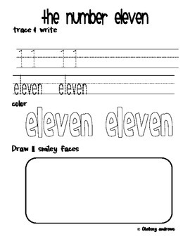 Number Writing Practice to 20