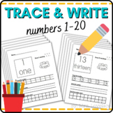 Number Writing Practice - write, draw, color, recognize with Number Chart