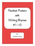 Number Writing Rhyme Posters