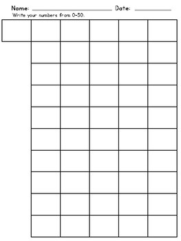 Number Writing Sheets
