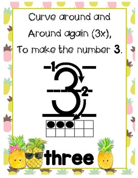 Number Writing Songs - Pineapples!