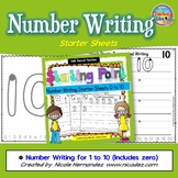 Number Writing Practice - Starter Sheets (1 to 10)