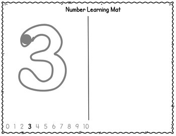 Writing Number Practice - Starter Sheets (1 to 10)