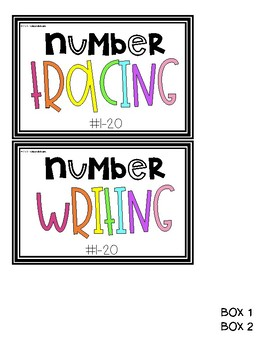 Number Writing Task Cards [Task Box]