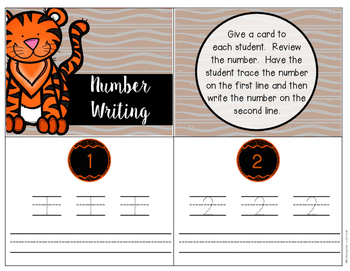 Number Writing - Task Cards