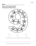Number Writing Worksheets 0 to 9 - Kindergarten & Early Elementary