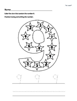 Number Writing Worksheets 0 to 9 - Kindergarten & Early El