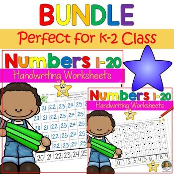 Number Writing Worksheets BUNDLE