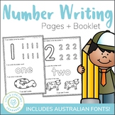Number Writing Worksheets and Book
