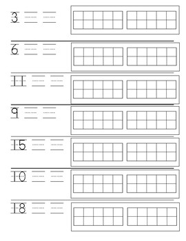 Number Writing and Cardinality 0-20