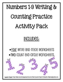 Number Writing and Counting Practice Mini Pack