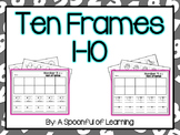 Numbers 1-10 on Ten Frames