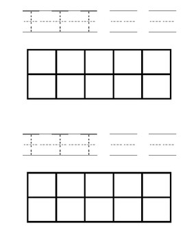 Number Writing and Ten Frame