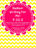Number Writing for Me K.CC.3 (Kindergarten CCSS aligned!)