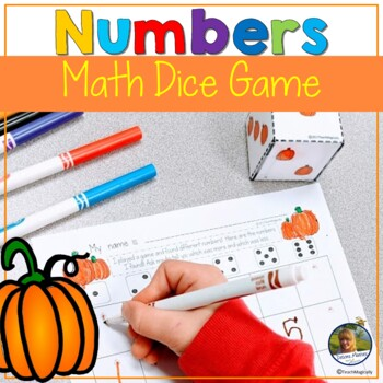 Number Writing with Number Sense Games Pumpkin Theme