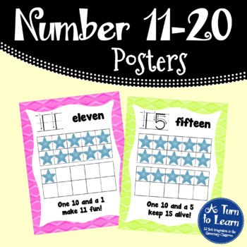 Number Writing/Formation Signs/Posters for 11-20