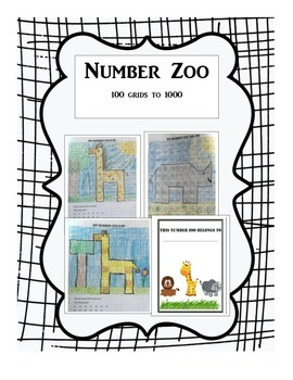 Number Zoo Counting from 1-1000 Mystery Pictures