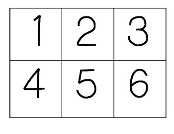 Number and Picture Matching Cards