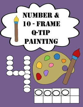 Number and 10-Frame Q-Tip Painting