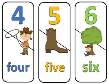 Number and ABC Puzzles - Cowboy Theme
