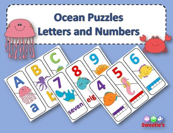 Number and ABC Puzzles - Ocean Theme