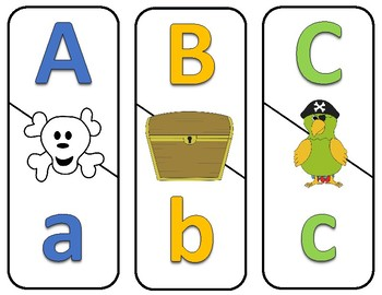 Number and ABC Puzzles - Pirate Theme