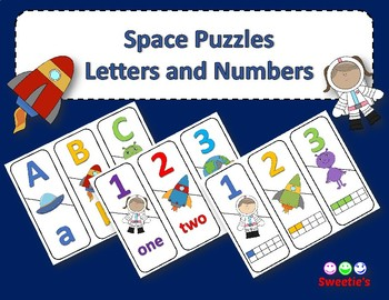 Number and ABCs Puzzle - Space Theme