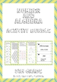 Number and Algebra Activity Bundle for 5th Grade (B/W)