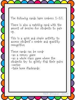Number and Alphabet Flashcards - Bright Spring Colors