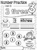 Number and Alphabet Practice Winter Activity