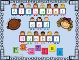 Number and Alphabet Puzzles For Back To School