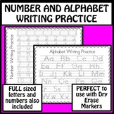 Number and Alphabet Writing Practice