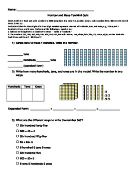 Number and Base Ten Quiz