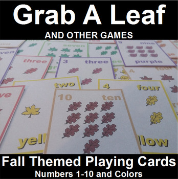 Number and Color Card Game with a Fall Theme