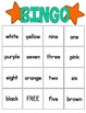 Number and Color Word Bingo