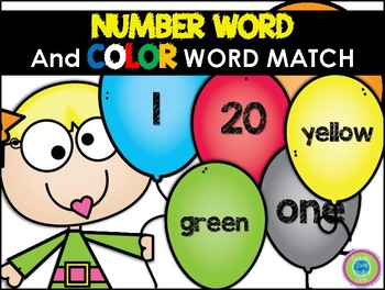 Number and Color Word Match Centers
